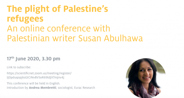 An online conference with Palestinian writer Susan Abulhawa